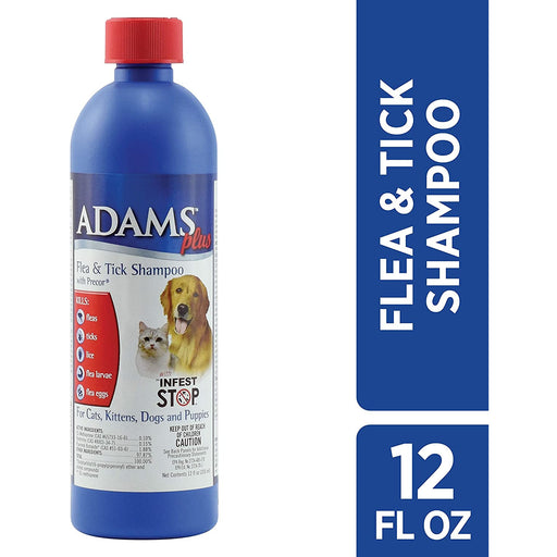 Adams Plus Flea & Tick Shampoo 12oz