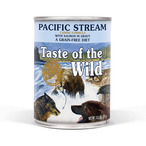 Taste of the Wild Grain Free Pacific Stream Wet Canned Dog Food 13.2-oz, case of 12