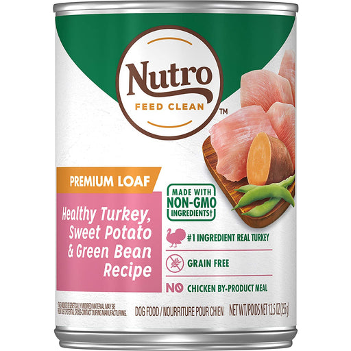Nutro Can Adult Hearty Stew Roasted Turkey Sweet Potato & Green Bean 12.5oz 12ct