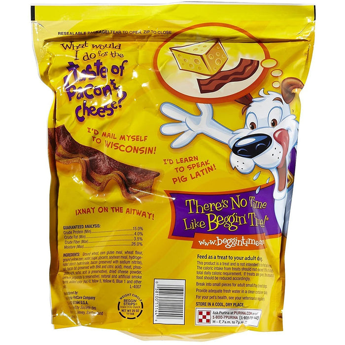 Beggin Strips Bacon & Cheese 25oz