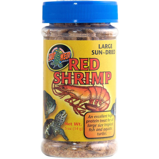 Zoo Med Large Sun-Dried Red Shrimp Aquatic Turtle Food .5oz