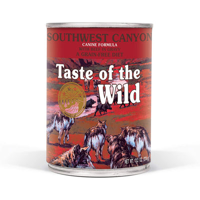 Taste of the Wild Grain Free Southwest Canyon Wet Canned Dog Food 13.2-oz, case of 12