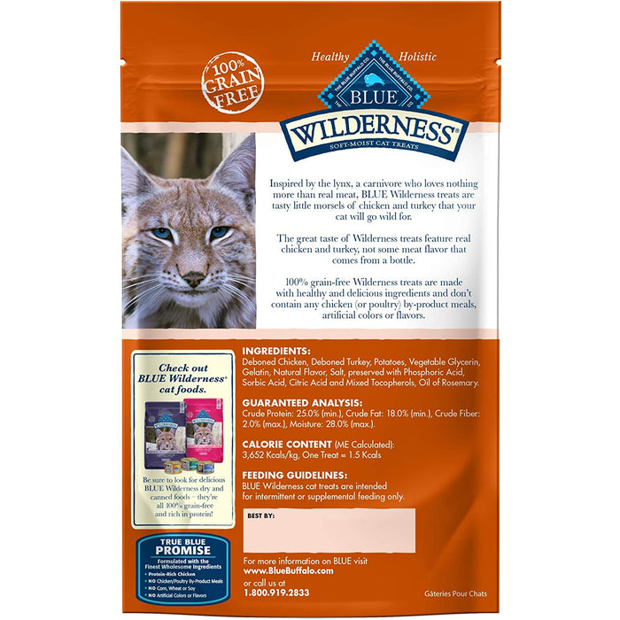 Blue Buffalo Wild Treat Cat Chicken & Turkey 2oz