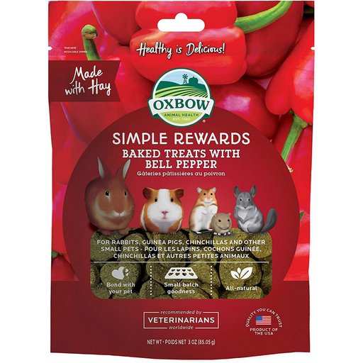 Oxbow Simple Rewards Baked Treats Bell Pepper 2oz