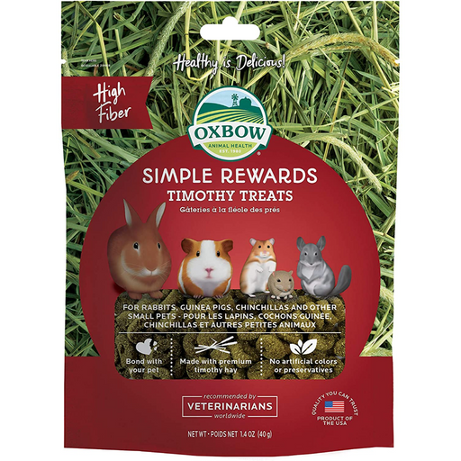 Oxbow Animal Health Simple Rewards Timothy Treat for Pets 1.4oz