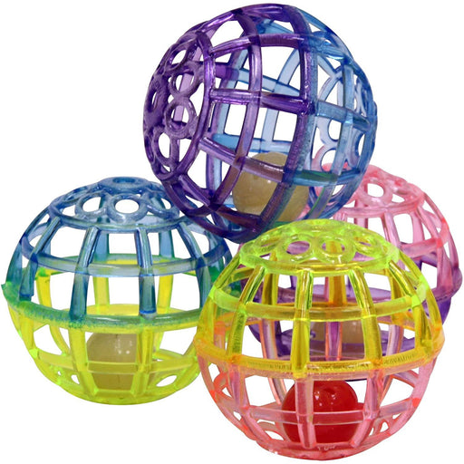 Cat Toy Lattice Ball 4pk