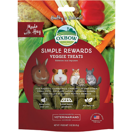 Oxbow Animal Health Simple Rewards Veggie Treat for Pets 3oz