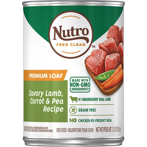 Nutro Can Adult Premium Loaf Savory Lamb Carrot & Pea 12.5oz 12ct