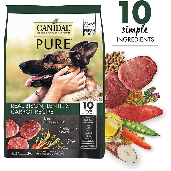 Canidae Dog Grain Free Pure Land Bison 21lb