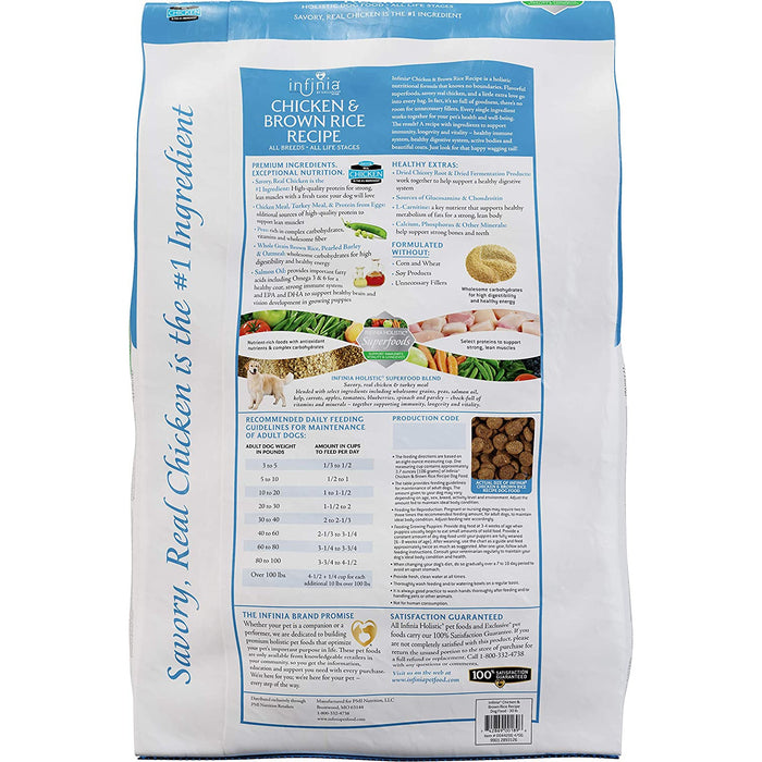 Infinia Chicken & Brown Rice 30 lb