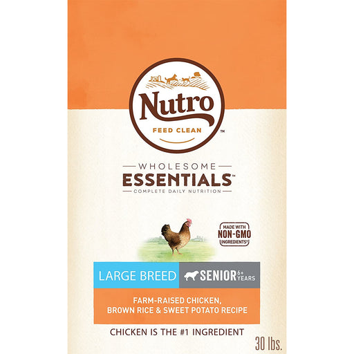 Nutro Wholesome Essentials Senior Large Breed Chicken & Rice 30lb