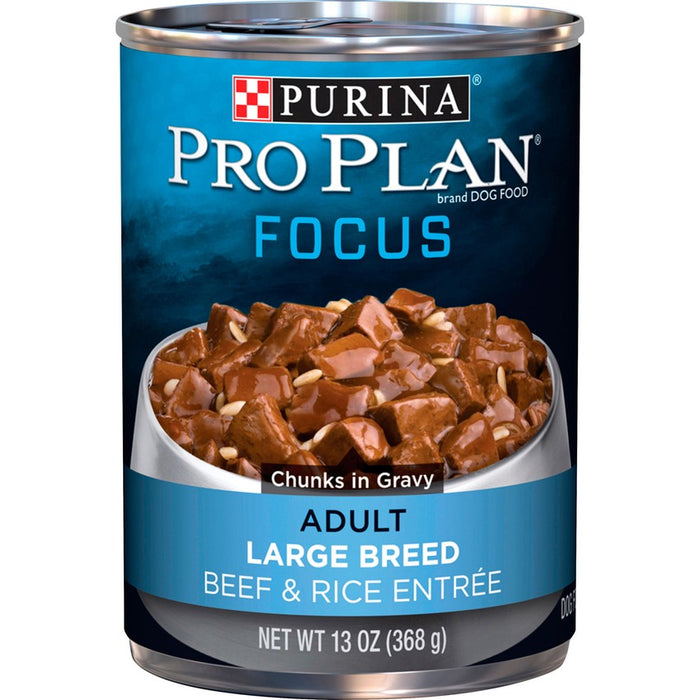 Pro Plan Dog Can Large Breed Beef & Rice 13oz 12ct