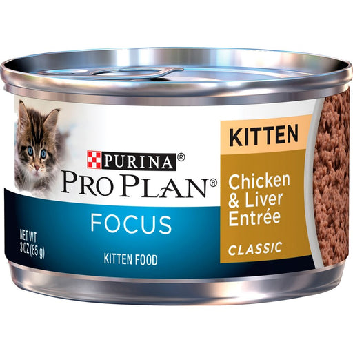 Pro Plan Kitten Can Chicken & Liver 3oz 24 Ct
