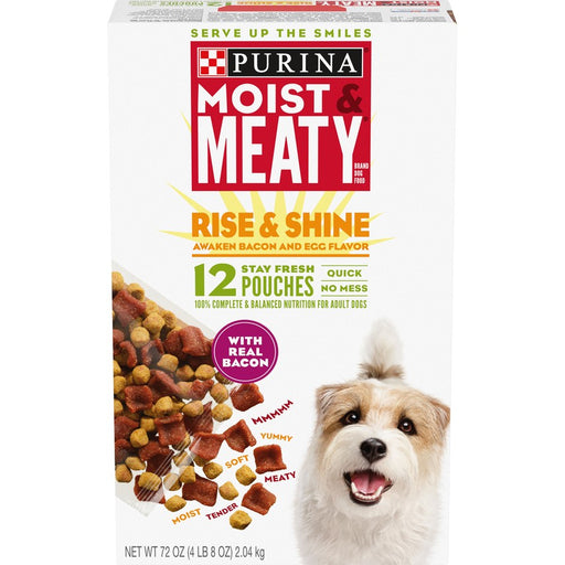 Purina Moist & Meaty  Rise & Shine Bacon & Egg 12pk