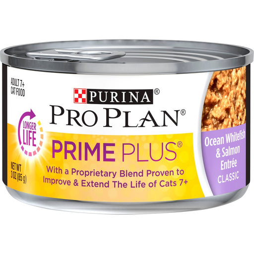 Pro Plan Cat Can Prime Plus Ocean Whitefish & Salmon 3oz 24ct