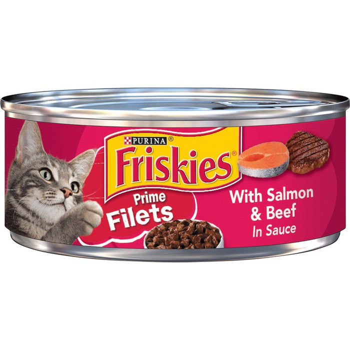 Friskies Cat Can Prime Filet Salmon & Beef 5oz 24ct