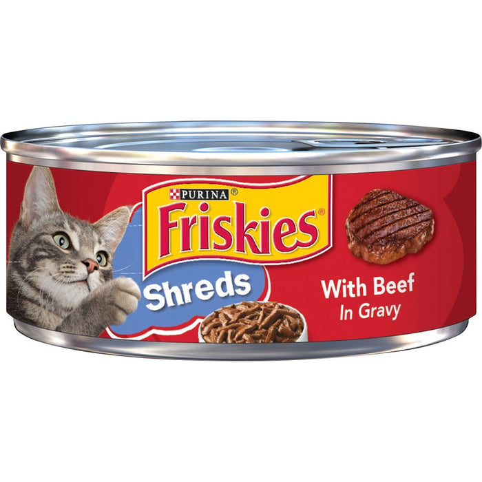 Friskies Cat Can Shredded Beef & Gravy 5oz 24ct