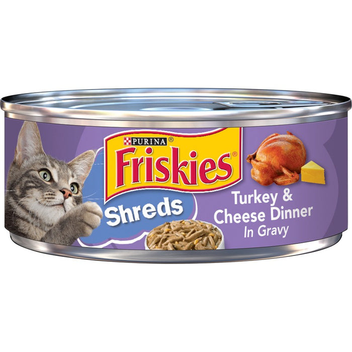 Friskies Cat Can Shredded Turkey & Cheese 5oz 24ct