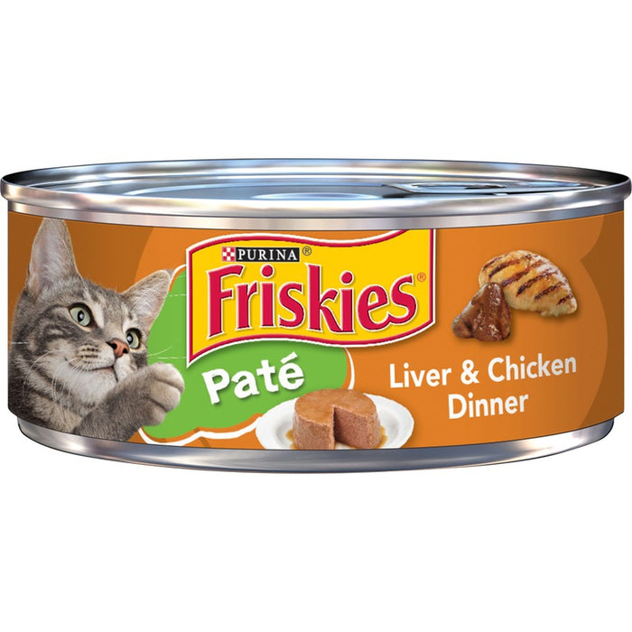 Friskies Cat Can Pate Liver & Chicken 5oz 24ct