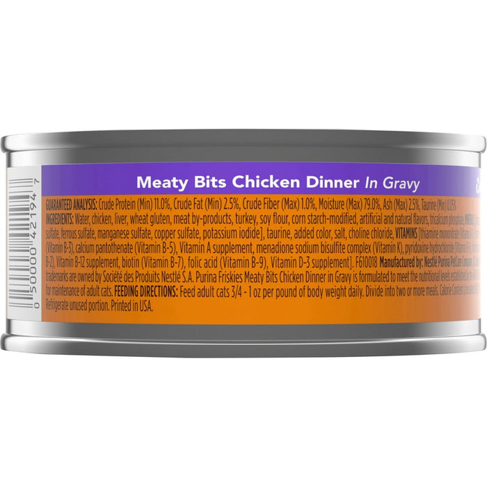 Friskies Cat Can Meaty Bits Chicken 5oz 24ct