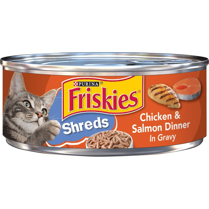Friskies Cat Can Shredded Chicken & Salmon 5oz 24ct