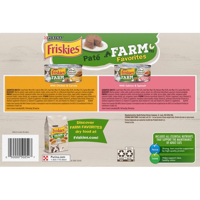 Friskies Cat Can Farm Favorites Variety Pack  24ct