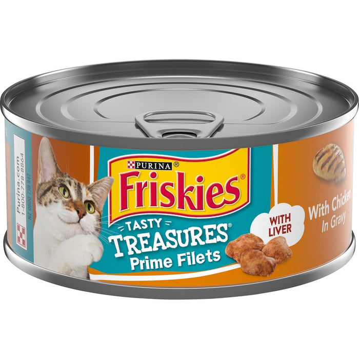 Friskies Cat Can Tasty Treasures Chicken & Cheese 5oz 24ct