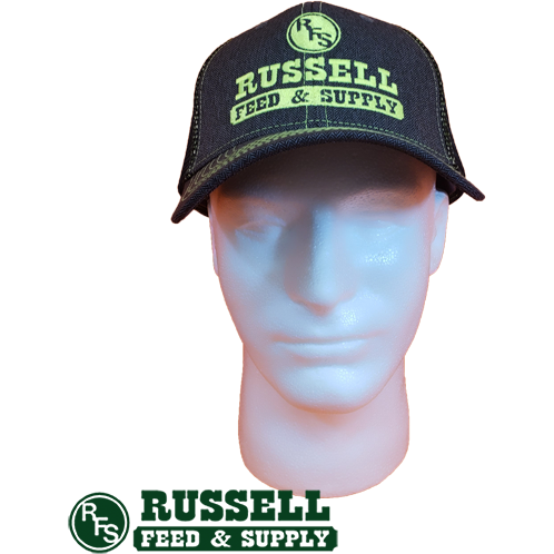 Russell Feed Gray & Electric Green Snap Back Trucker Hat