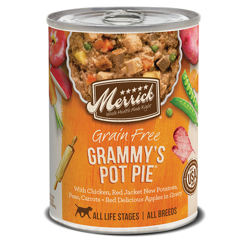 Merrick Can Grain Free Grammys Pot Pie   13oz 12ct