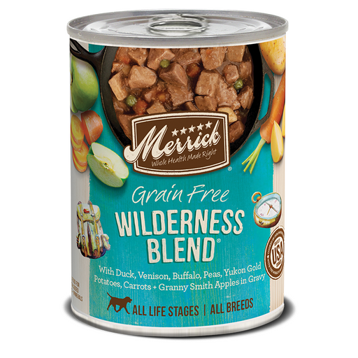 Merrick Can Grain Free  Wilderness Blend  13oz 12ct