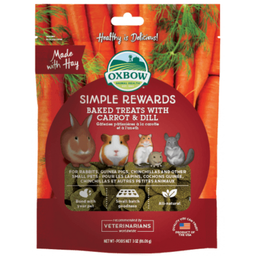 Oxbow Simple Rewards Oven Baked With Carrot & Dill Small Animal Treats 3oz