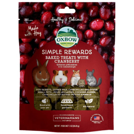 Oxbow Simple Rewards Cranberry Treats for Small Animals 3oz