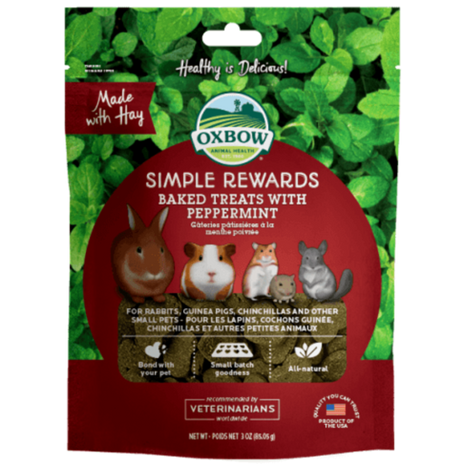 Oxbow Simple Rewards Oven Baked With Peppermint Small Animal Treats 3oz