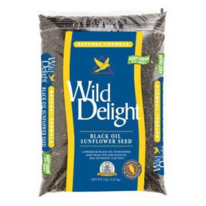 Wild Delight Black Oil Sunflower Seeds 5lb