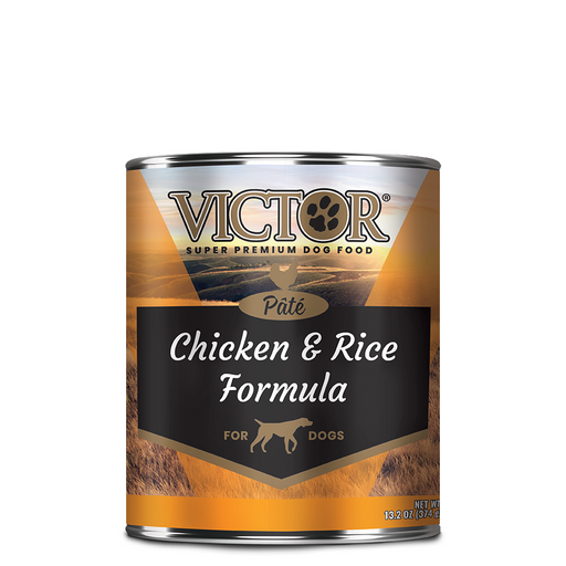 "Victor Chicken & Rice Formula ""Pate"" Dog Food - Canned, 12/13.2 Oz. Cans"
