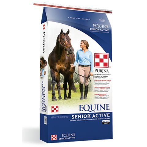 Purina Equine Senior Active Horse Feed 50lb