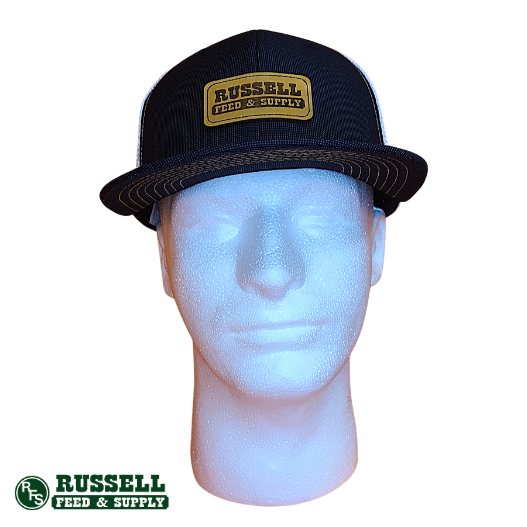 Russell Feed Black & White 4H Snapback Hat