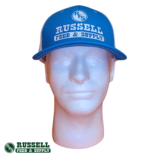 Russell Feed Bright Blue & White Texas Patch Snapback Hat