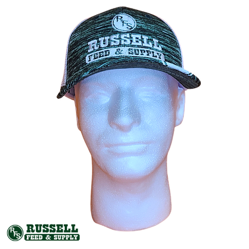 Russell Feed Matrix Green & White Snapback Hat