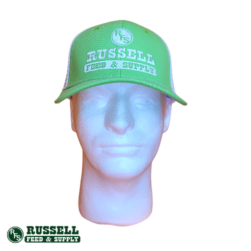 Russell Feed Bright Green & White Snapback Hat