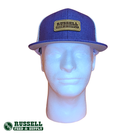 Russell Feed Purple & White FFA Patch Snapback Hat
