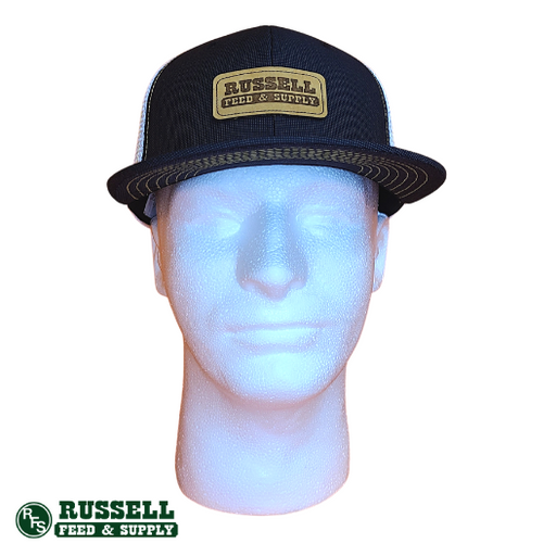 Russell Feed Black & White Suit Snapback Hat