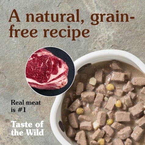Taste Of The Wild Grain Free High Prairie Wet Canned Dog Food 13.2-oz, case of 12