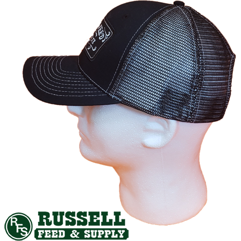 Russell Feed Commemorative Patch All Black Snap Back Trucker Hat