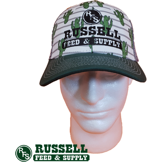 Russell Feed Cactus Print Snap Back Trucker Hat