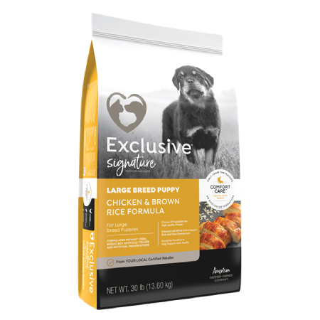 Exclusive Large Breed Puppy Chicken & Brown Rice 30lb