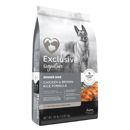 Exclusive Senior Chicken & Brown Rice 30lb