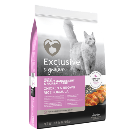 Exclusive Healthy Weight and Hairball Managment Chicken & Brown Rice