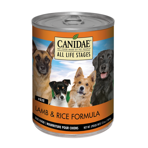 Canidae Dog Can Lamb & Rice  13oz 12ct