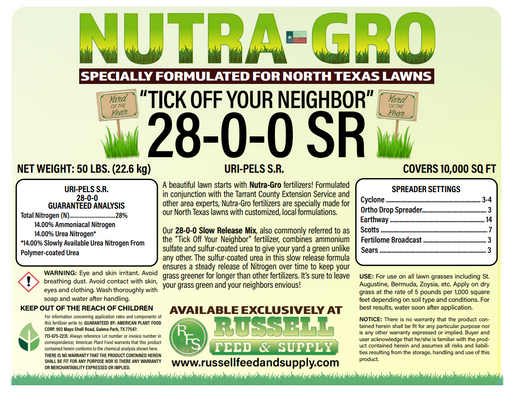 NutraGro Tick Off Your Neighbor  28-0-0 S/R 50lb